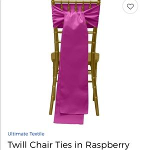 Other - Twill Chair Ties/Chair Sashes 28 ct. in Raspberry